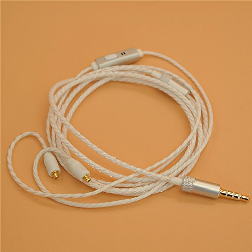 YDYBZB Headphones Cable -MMCX Cable Detachable Earphones Replacement Cable with Mic for Shure SE215 UE900