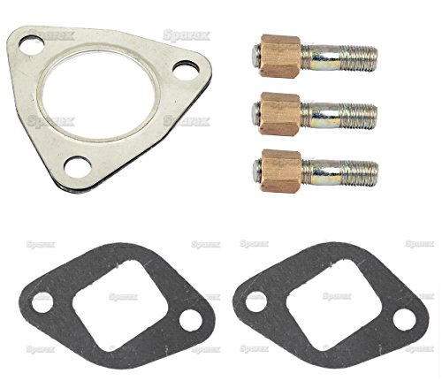 Massey-Ferguson Tractor Exhaust Manifold Installation Gasket/Stud Kit - fits Models w/ 3 cyl. Perkins AD3.152 Diesel and AG3.152 Gas