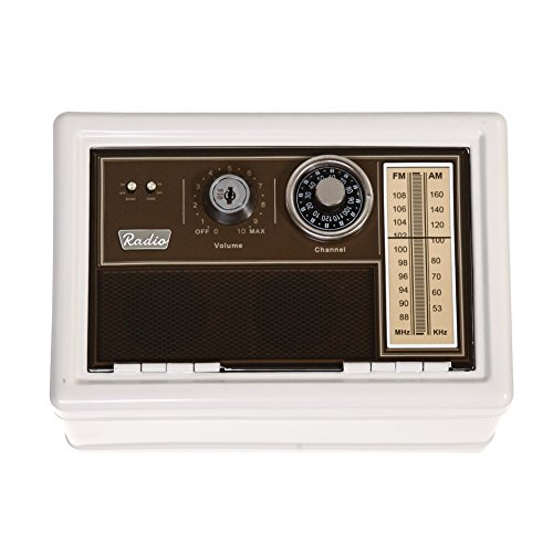 Old Clasic Retro Brown Radio Design Metal Safe With Dial and Key Double (Dial Double Dial)