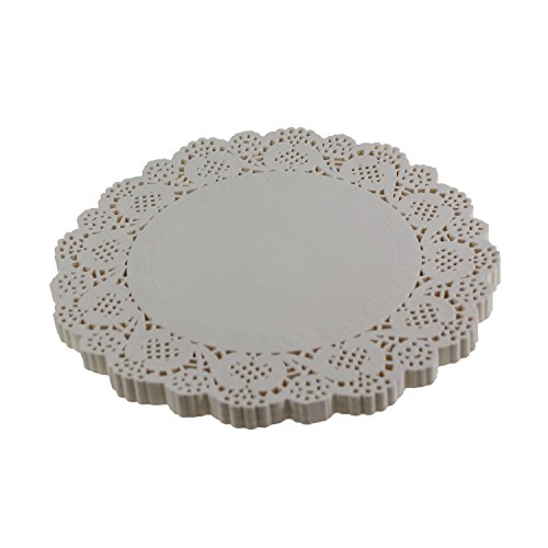 """100 Paper Lace Doilies White 5.5/"""" Round Fancy Wedding Aniversary Party Crafts"""