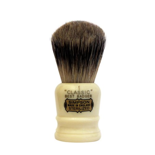 Classic 1 Best Badger Shaving Brush brush by Simpson by Simpsons (Image #1)