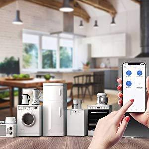 Google Home und IFTTT Kompatibel mit Alexa Meross Smart WLAN Steckdose Intelligente Steckdose mit Verbrauchsanzeige Timer Funktion App Steuerung 1 St/ücke 100-240V 16A 3680W MSS310KITEU