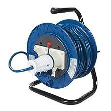 Powermaster 851543 Alargador Eléctrico Industrial con 2 Tomas, 230 V