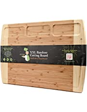 Greener Chef Bamboo Cutting Boards with Built-In Compartments