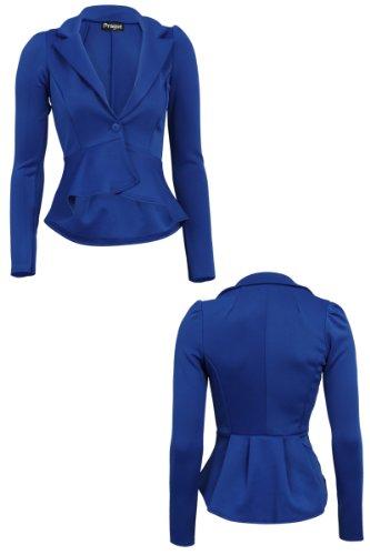 sulle donna con 55F a da maniche Blu giacca spalle sbuffi lunghe q6PP8TEwx