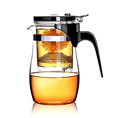 BOCHA Loose Leaf Tea Maker with Glass Teapot, Built in Infuser and Removable Filter – 800ml