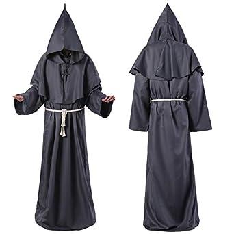 Yiren Halloween Cosplay Abiti medievali Monaci Monk Robe Sorcerer Abbigliamento Abbigliamento Signora Pastore Cristiano Vestito 5 Colori facoltativi