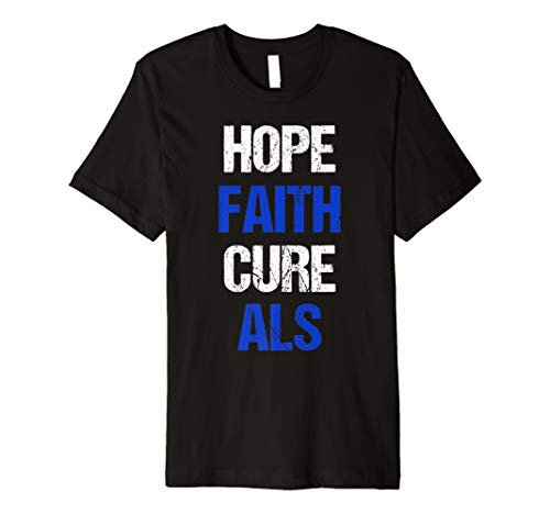 T-shirts Als Cure (Hope Faith Cure ALS Awareness T-Shirt)