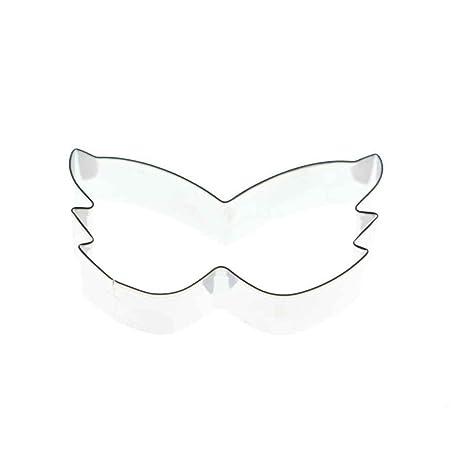 Gankmachine Forma de máscara Molde para Pastel Molde para Hornear Cookie Sugarcraft Biscuit de Acero Inoxidable