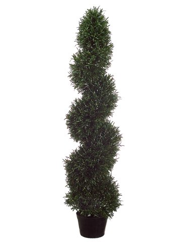 4' Rosemary Spiral Topiary in Plastic Pot Green (Pack of 2)