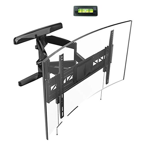Loctek Curved TV Wall Mount Bracket Heavy Duty for 32-70 inch Articulating Full Motion Tilt Swivel Up to VESA 600×400…
