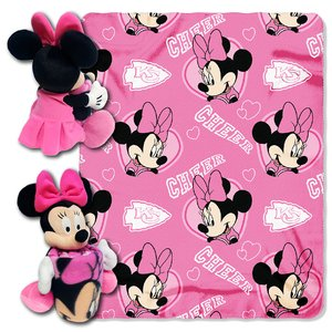 The Northwest Company Officially Licensed NFL Kansas City Chiefs Co Disney's Minnie Hugger and Fleece Throw Blanket ()