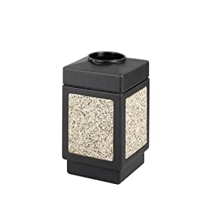 Safco Products 9471NC Canmeleon Aggregate Panel Waste Receptacle, Top Open, 38-Gallon, Black