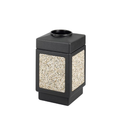 Safco Products 9471NC Canmeleon Aggregate Panel Trash Can, Top Open, 38-Gallon, Black by Safco Products