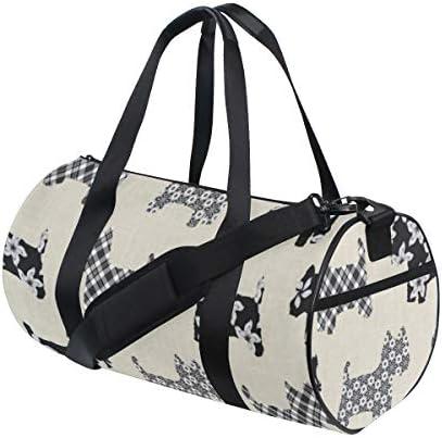 ボストンバッグ シュナウザー 柄 ジムバッグ ガーメントバッグ メンズ 大容量 防水 バッグ ビジネス コンパクト スーツバッグ ダッフルバッグ 出張 旅行 キャリーオンバッグ 2WAY 男女兼用
