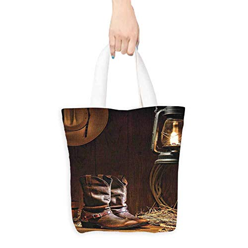 Western Decor Carrying Bag American Rodeo Cowboy Traditional Leather Working Roper Boots Premium Quality 16.5