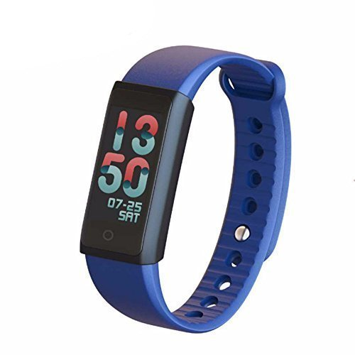 WOSUNG X6S-blue Smart Heart Rate Monitor Bracelet Fitness Tracker with Blood Pressure, Oxygen Monitor, Bluetooth Pedometer Fitness Smart Bracelet Watch for IOS Android Smartphone, Blue by WOSUNG (Image #1)