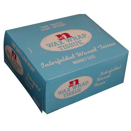 Interfold Bath Tissue - Norpak Corparation Midget Wax Wrap - Bakery Tissue, 6 X 10.75 Inch, 1000 Sheets Per Box - 10000 Per Case.