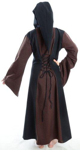 mit zum weiß braun S XL Gugel Mehrfarbig Mittelalter HEMAD schwarz rot Damen Kleid grün Schnüren blau wXR1Xq
