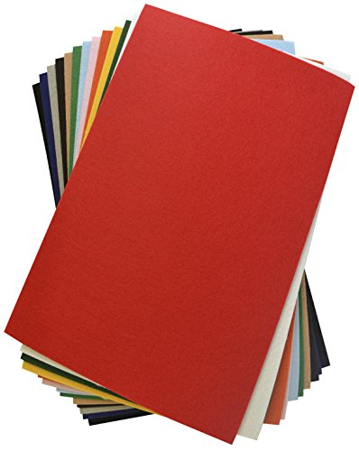 CPE Eazy Felt Solid Stiffened Felt, 12 x 18 Inches, Assorted Color, Pack of 25]()