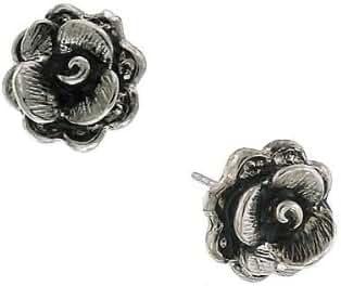 1928 Jewelry Petite Silver -Tone Flower Stud Earrings