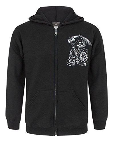 Official Sons Of Anarchy SAMCRO Men's Zip Up Hoodie (M)