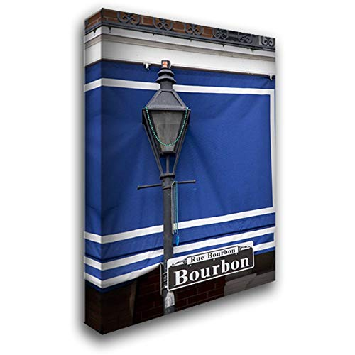 - Louisiana, New Orleans Bourbon Street lamppost 26x38 Gallery Wrapped Stretched Canvas Art by Kaveney, Wendy