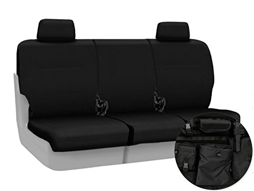 Coverking Front 40/20/40 Custom Fit Seat Cover for Select Chevrolet Silverado Models - Ballistic (Black)