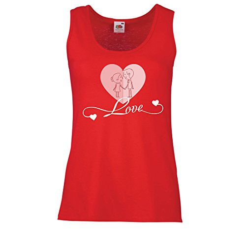 lepni.me Womens Tank Tops I Love You ! Precious Gifts of Love for Your Secret Valentine (X-Large Red Multi Color)