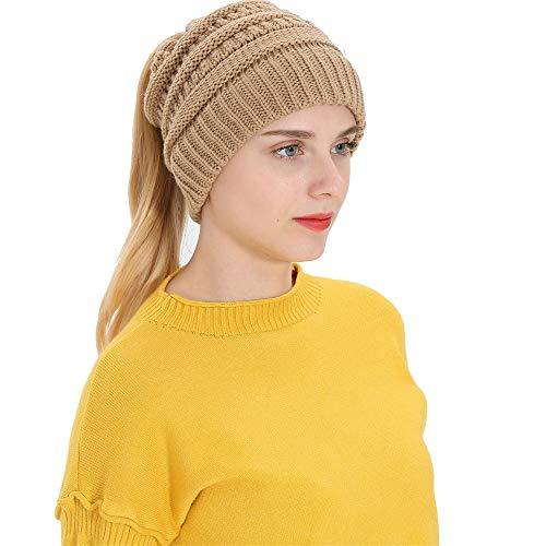 CUCUHAM Women Men Autumn Winter Beanie Hat Knitting Wool Warm Hats Earmuffs ()