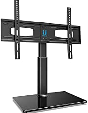 FITUEYES Universal Table TV Pedestal Stand for 32 to 60 Inch Swivel 4 Levels Height Adjustable TV Base Bracket TT105202GB