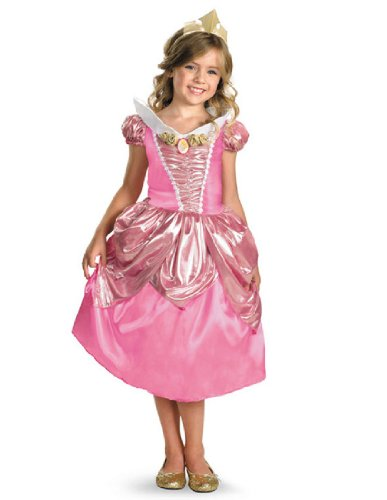 [Aurora Shimmer Deluxe Costume - Medium (7-8)] (Toddler And Girls Aurora Princess Costumes)