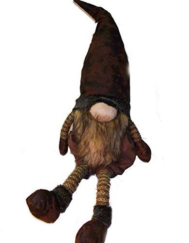 Woodland Gnome (Woodland Plush Long Legs Gnome Santa Shelf Sitter (Lg, Brown))