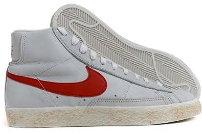 separation shoes 4807c fadf2 Nike Blazer Mid Vintage per Uomo e Donna alte pelle o camoscio dd1 -  Biancobaffo Rosso, 42 Amazon.it Scarpe e borse