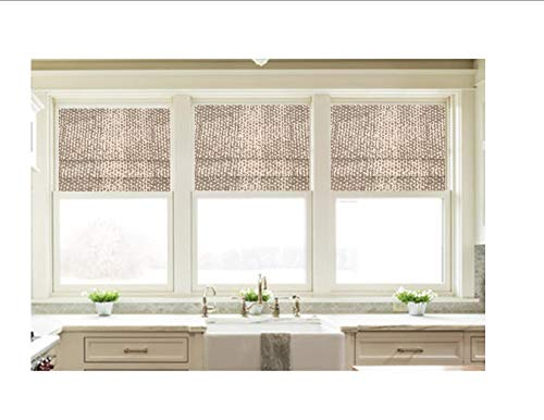 Faux Roman Shade Valance Custom Made in Taupe Grey and White Zoey Cove Print, 100% Cotton Fabric. Custom Made. Fully Lined. Ready to Hang (Cove Window)