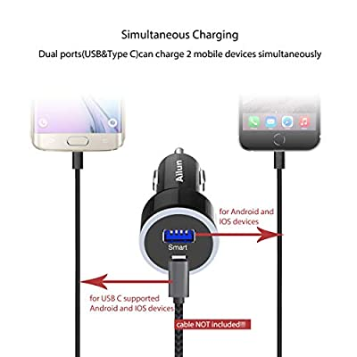 Ailun PD Car Charger Adapter 33W, USB Type C PD 18W,USB A Smart 15W Port,Power Delivery for MacBook,Pixel,iPhone 11Pro Max/XR/Xs Max,Galaxy s20+ S20Ultra S10 Plus S8 S9: Home Audio & Theater