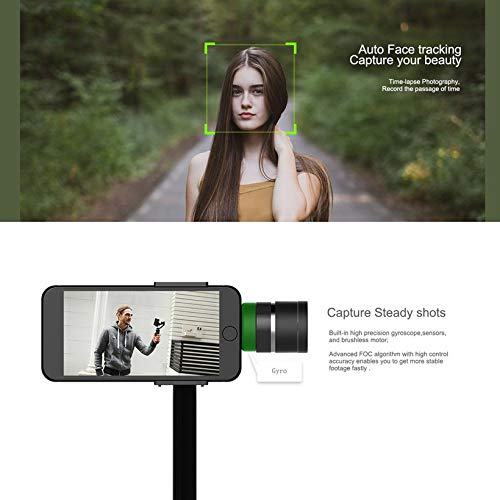 Wikiwand Funsnap Capture 3-Axis Smartphone Selfie Handheld Gimbal with Cam Adapter by Wikiwand (Image #6)