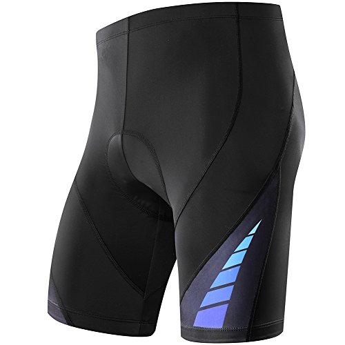 NOOYME (Year-End Deals) Men's Bike Shorts Basic Comfortable 3D Gel Padded Mens Cycling Shorts (XL, Power Movement-Blue)
