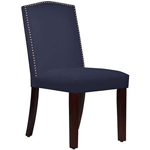 Skyline Furniture Duck Navy Nail Button Arched Dining Chair