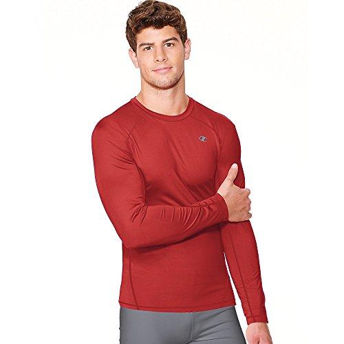 Champion Vapor Mens Long Sleeve T-Shirt_Scarlet_L