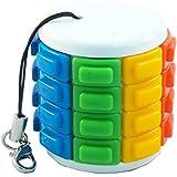 ENI Tower Keychain Rainbow Color Cylinder Sliding Puzzle Twisty Toy
