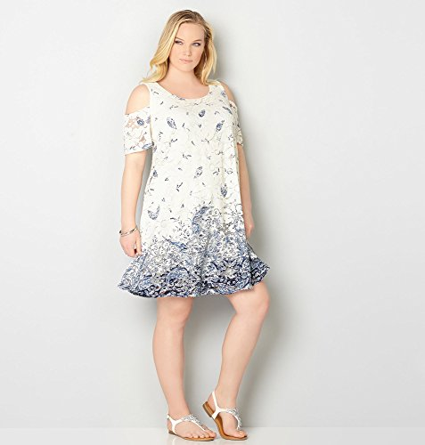 AVENUE-Womens-Daisy-Lace-Paisley-Print-Dress