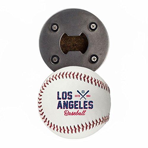Los Angeles A Bottle Opener, Made from a real Baseball, The BaseballOpener, Cap Catcher, Fridge Magnet