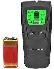 Sunbaca 3 in1 Stud Finder Detector de parede - Sensor eletrônico de Stud Sensor de centro do scanner de parede - com bateria Display LCD para madeira Metal Studs Detecção de fio CA