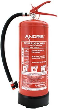 Feuerlöscher 6kg ABC-Pulverlöscher 12 Löschmitteleinheiten DIN EN 3 inkl. ANDRIS® Prüfnachweis &. ISO-Symbolschild