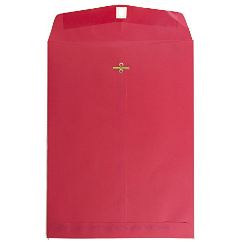 Garnet Clasp - JAM PAPER 9 x 12 Colored Recycled Envelopes with Clasp Closure - Red Recycled - 100/Pack