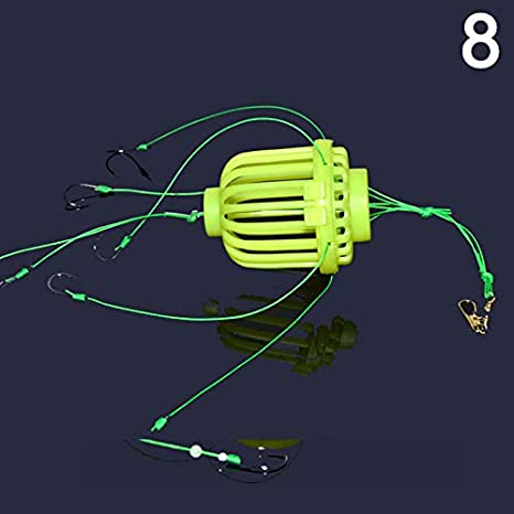 Alaojie Fluorescent Luminous Throwing Fishing Squid Hook Squid Group Water Explosion Hook Water Mine Fishing Cage Bomb Hook