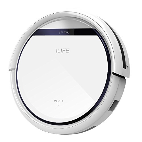 ILIFE V3s Robotic Vacuum Cleaner for Pets and Allergies Home, Pearl White - Automatic Floor Cleaner