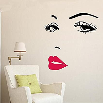 64e7ea497e Image Unavailable. Image not available for. Color: Wall Sticker Home Art  Quotes Marilyn Monroe Quote Red Lips Vinyl Wall Stickers Art Mural Home