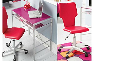 Mainstays Glass-Top Desk and Desk Chair Value Bundle, Multip